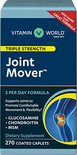 Vitamin World Triple Strength Joint Mover | Joint Support Nutritional Supplement | Feat. Glucosamine, MSM, Chondroitin to Support Joint Comfort and Flexibility, 270 Caplets
