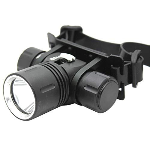 2000 mAh XML-L2 Lampe Frontale Lumière principale,Étanche 100 mètres,LED de Gradation Magnétron,18650 Rechargeable,OVERMAL Natation Plongée étanche Alliage d'aluminium Torche