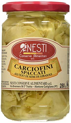 Nesti Conserve Alimentari Carciofi Spaccati all' Olio di Girasole - Pacco da 12 X 280 g