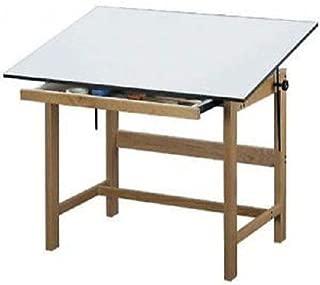 Alvin Titan Solid Oak Drawing Drafting Table 37