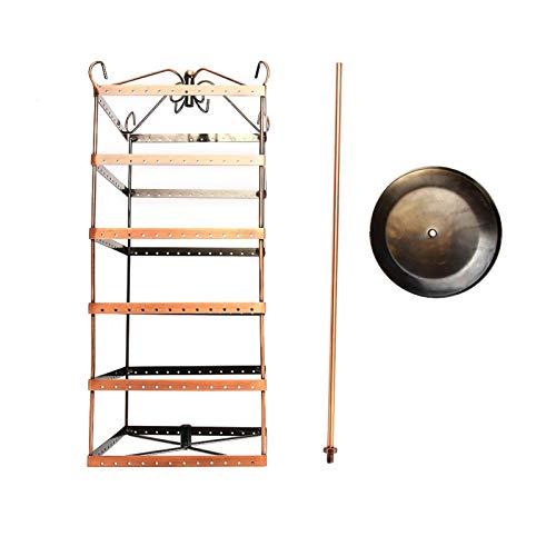 Soportes de exhibición de joyería, 288 agujeros giratorio seis capas pendientes collar pulsera soporte para suspensión estante de joyería decorativo de mesa organizador herramienta de almacen