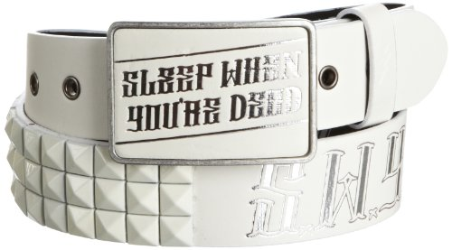Lowlife of London Ceinture Homme - Blanc - Blanc - S (Taille Fabricant: S)