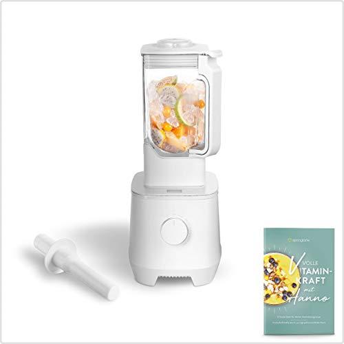 Hanno Batidora de Vaso de Alto Rendimiento - 2000 W, 32000 RPM – Licuadora para Verduras y Frutas con Vaso de Batidora de Tritan de 2,5 L – Batidora de Vaso de Cristal sin BPA + Recetario Incluido
