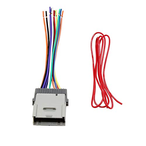 RED WOLF Stereo Radio Wiring Harness Connector Replacement for Select GM Chevy GMC 2000-2012 Model