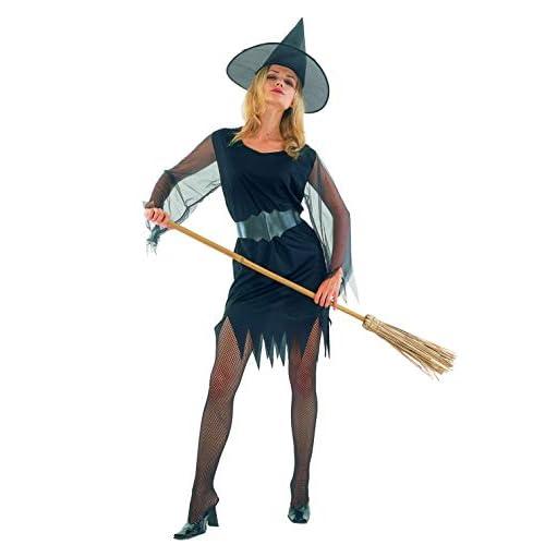Ciao-Costume Strega sexy, taglia unica adulto Donna, Nero, 62139