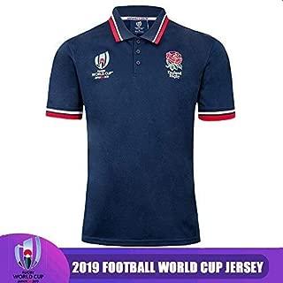 CHERSH Transpirable Camiseta de Rugby Polo de Manga Corta de 2019 ...