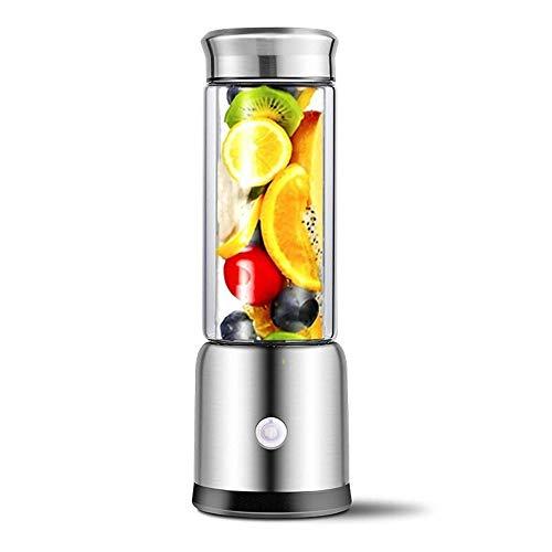 Portátil Licuadora Personal Exprimidor, mini exprimidor exprimidor w USB, Frío-prensa con silencioso del motor y retroceso de funciones, fruta de alta nutrición y jugo de vegetales, fácil de limpiar B