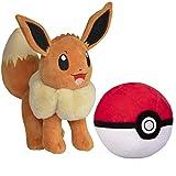 Pokemon Pokeball and 8' Eevee Plush Stuffed Animal Toy - Set of 2