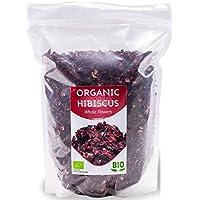 Flores de hibisco orgánicas HerbaNordPol   Egipcias   Hibiscus Premium   1 Kg BIO   Pétalos sueltos grandes para té