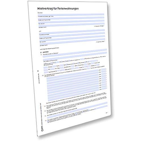 AVERY Zweckform 2243e Mietvertrag für Ferienwohnung (von Rechtsexperten geprüft, ideal für die Vermietung von Ferienwohnungen, inkl. Inventaraufstellung) [PDF-Download]