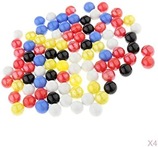 Injoyo Set of 360pcs Marbles Ball Glass Bead for Chinese Checkers Developmental Toy