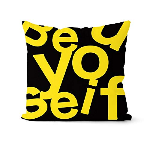 YIBINGLI Zebra Pineapple Pattern Throw Pillow Case Yellow Cushion Covers for Home Sofa Chair 45×45cm with pillow core