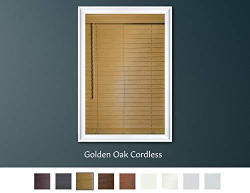 Luxr Blinds Custom-Made 2' Premium Faux Wood Cordless...