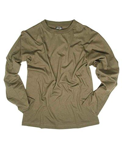 Mil-Tec T-Shirt avec Manches Longue Cotton (Olive/L)