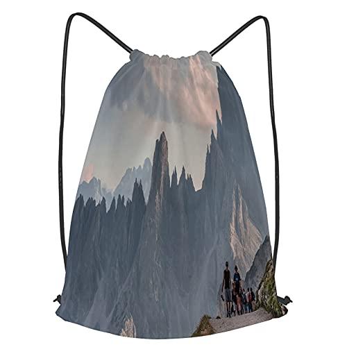fudin Impermeable Bolsa de Cuerdas Saco de Gimnasio Alfombra tejida blanca closeup textura textil Deporte Mochila para Playa Viaje Natación