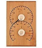 Weigand Klimamesser SCHLICHT I Thermometer und Hygrometer Kombination aus wärmebehandelter ERLE I Messinstrument I Sauna I Zubehör I Saunazubehör I Schlicht Erle -