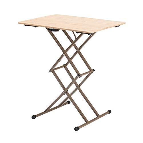 Desks DD Outdoor Vouwen De Lift Table, Computer Kunststof-houten Tafelmaaltijd Eenvoudige Draagbare Vouwtafel Hoogte 4 Verstelbaar (40-68cm) -Werkbank