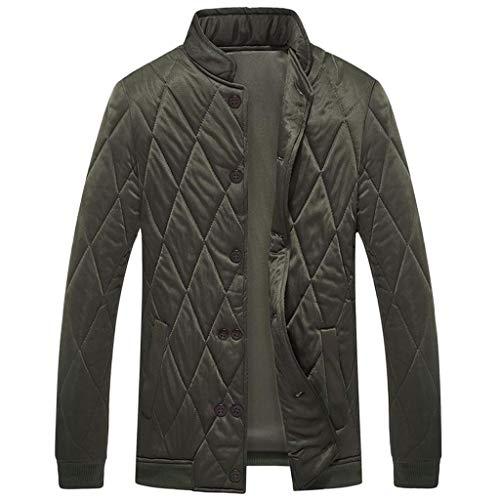 LILIHOT Herren leichte Steppjacke aus Baumwolle Classics Übergangsjacke Herbst Winter Langarm Bomberjacke Sportswear Casual Jacke