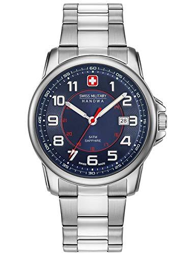 Swiss Military Hanowa Unisex Erwachsene Analog Quarz Uhr mit Edelstahl Armband 06-5330.04.003