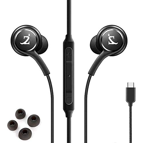 ZAMZAM PRO Stereo Headphones Works for OnePlus 7T Pro 5G McLaren with Hands-Free Built-in Microphone Buttons + Crisp Digital Titanium Clear Audio! (3.5mm, 1/8 inch)