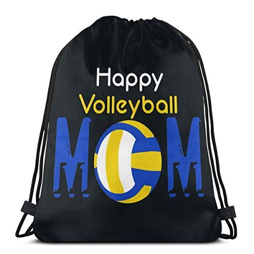 Happy Volleyball Mom Coulisse Zaino Zaino Borse a Tracolla Borsa da Palestra
