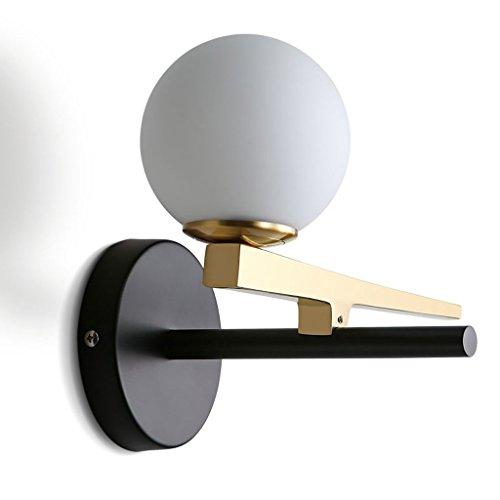 Nordic glas, bol, rond, wandlamp, creatief, lange staven, woonkamer, slaapkamer, wandlamp, 5 W/G9 parels, bedlampje, eenvoudig + A Wit licht