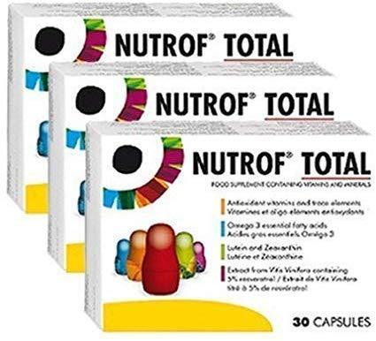 Nutrof Total 90 Kapseln Nahrungsergänzungsmittel für gesunde Augen (3 Monate Zubehör)