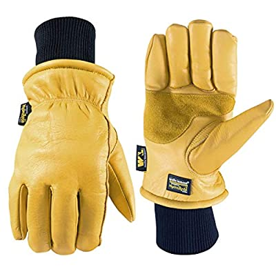 Men's HydraHyde Leather Winter Work Gloves (Wells Lamont 1202XL), Saddletan