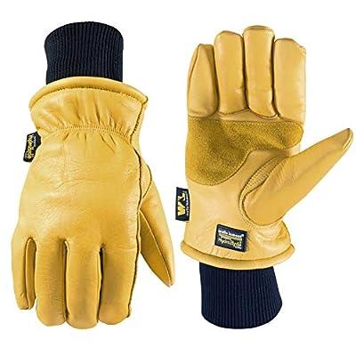 Men's HydraHyde Water-Resistant Leather Winter Work Gloves, Medium (Wells Lamont 1202)