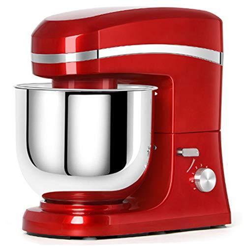 GAOLIGUO Amasadora 7L, 1000W 6 Velocidades Robot Cocina Multifuncional Mezclador de Alimentos Incluye 3 Accesorios de batido Amasadora para Repostería,Red