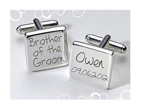 Brother of the Groom boutons de manchette carrés personnalisé cadeau un cadeau spécial, personnel