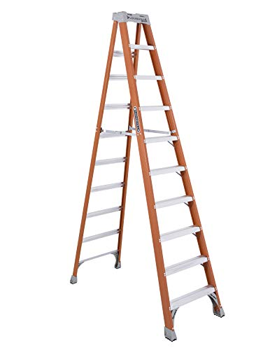 Louisville Ladder FS1510 Fiberglass Step Ladder, 10 Feet, Orange