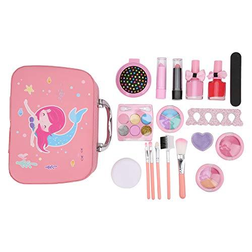 AMONIDA Juguete de Maquillaje cosmético para niños, Mejora la Elegancia de la relación, Accesorios completos, Juguete de Maquillaje, Mejora el bebé Social para el hogar(2005I)