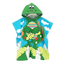 6. Wowelife Dinosaur Hooded Towel for Kids