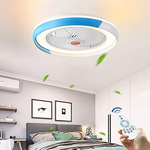 yanzz Ventilador de Techo Oculto LED, luz Creativa, Invisible, contemporáneo, lámpara de Techo, 36 W, Regulable con Control Remoto para la Sala de Estar, lámpara, Dormitorio, niños, Ultra Silencio