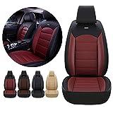Funda de Asiento Delantero de Coche para Honda CROSSTOUR Accord Odyssey CR-V Jazz HR-V Pilot Jade Civic Funda Protectora de Cuero 3D Impermeable y a Prueba de Polvo Negro Rojo