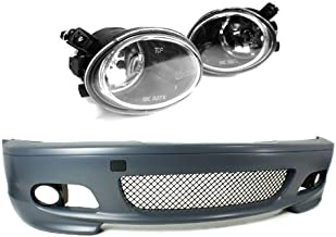 PROMOTORING For 00-06 BMW E46 3-SERIES 2DR M-TECH II STYLE FRONT BUMPER w/CLEAR FOG LIGHTS