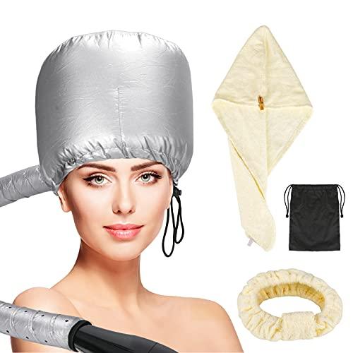 Accesorio para secador de pelo con toalla de pelo seco, diadema de BestMal para secado de capó, tapa suave, vaporizador de pelo...