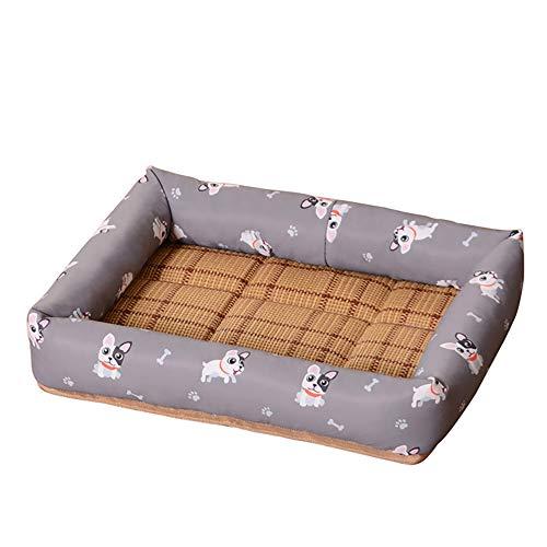 thematys Hunde-Bett I Hundekorb Kratzfest und Reißfest I Haustier-Korb Wasserabweisend I Katzenbett mit viel Platz I Haustierbett Weich (XL (61 x 76 cm), Style 8)
