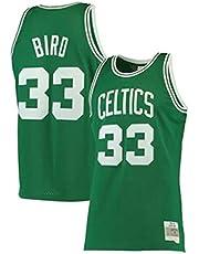 YHIU Jerseys de Baloncesto Larry Bird # 33 Boston Celtics, Ropa Deportiva, Camiseta sin Mangas Unisex, excelente Material