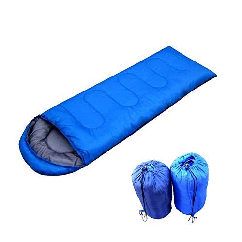 Wo nice Coucher Style bagEnvelope Sac de Couchage extérieur Hiver Prevent Polyester imperméable Sac de Couchage Adulte Camping Randonnée Escalade Voyage (Color : 0.95KG~Royal Blue)