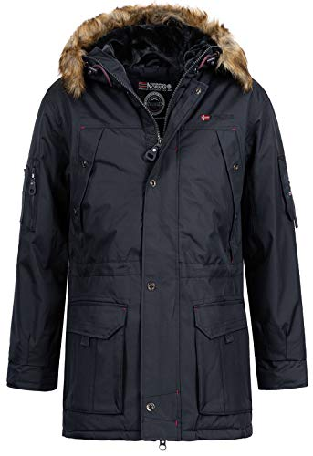 Geographical Norway Abiosaure Herren Winter Jacke Parka Parker Navy Gr. L