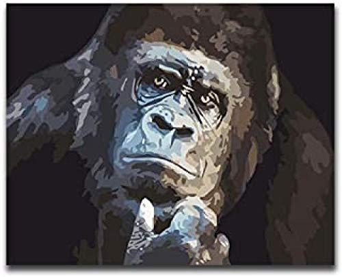 WOMGD® Denken Black Gorilla legpuzzel, houten puzzels 1000 stukjes, educatief spel speelgoed uitdagende diy draagbare unieke gift home decor
