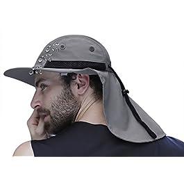 Chapeau Soleil Homme Chapeau Homme Été Casquette Visière Homme Casquette Protège Nuque Chapeau Anti UV Homme Chapeau à…