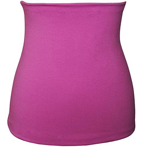 Belldessa Nierenwärmer - Baumwolle - Jersey - rosa / pink - Bauchwärmer / Rückenwärmer - 4 bis 6 Jahre - Kinder - für Blasenentzündung Mädchen Jungen Baby - Kinderniere..