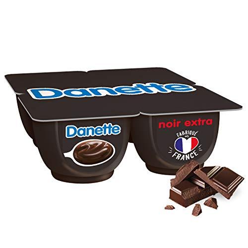 DANETTE Crème Dessert Chocolat Noir Extra 4 x 125 g