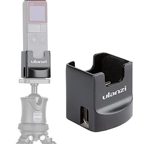 Soporte de base de carga para trípode ULANZI OP-2 para DJI Osmo Pocket Gimbal, soporte de mesa con 2 puertos de carga USB tipo-C Agujero de trípode de 1/4 '', Osmo Pocket Vlog Accesorios para Vloggers