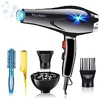 pluiesoleil asciugacapelli professionale e sicuro 3000w con diffusore, phon professionale per capelli 2 velocità e 3 temperature per un'asciugatura rapida e styling a lunga durata