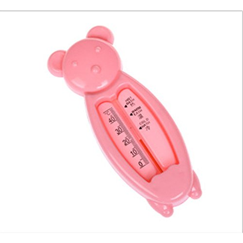 Metermall Home Cute Cartoon Shower Water Thermometer for Baby Bathing Room Thermometer Pink