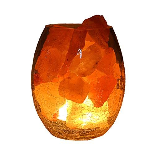 Twilight ijs gebarsten roos kristal zout lamp nachtlampje slaapkamer nachtlampje om mannen en vrouwen verjaardag geschenken, 100% authentieke natuurlijke roze kristal rock zout lamp kwaliteit, natuurlijke roze kristal ston
